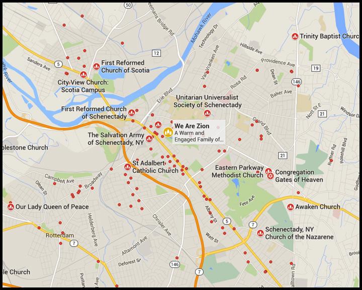 Churches Map